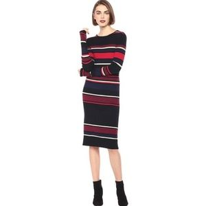 Cupcakes & Cashmere Jaslene Striped Sweater Dress